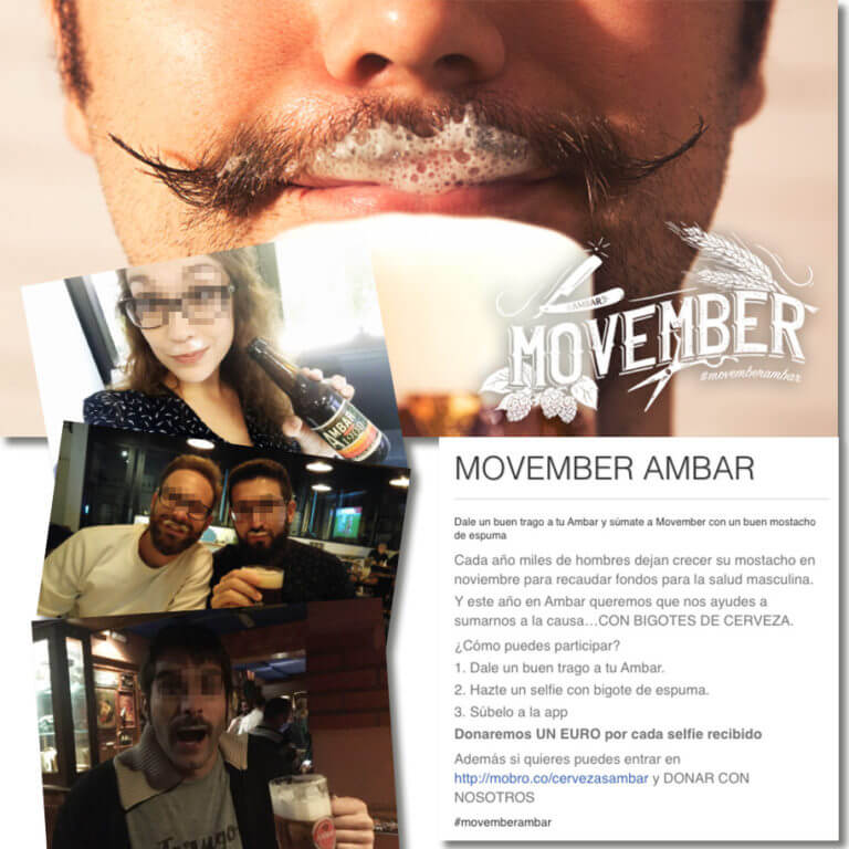 Movember promotion idea from Ambar, selfie contest