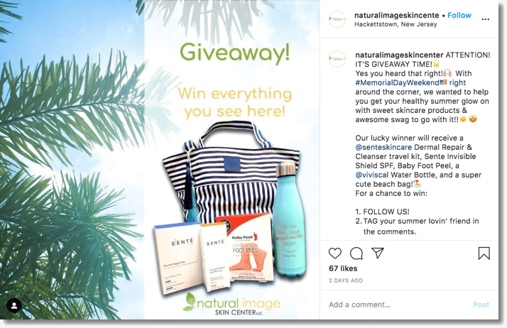 instagram summer giveaway