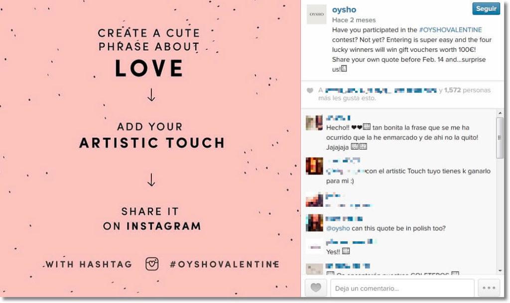Oysho Valentine's promotion