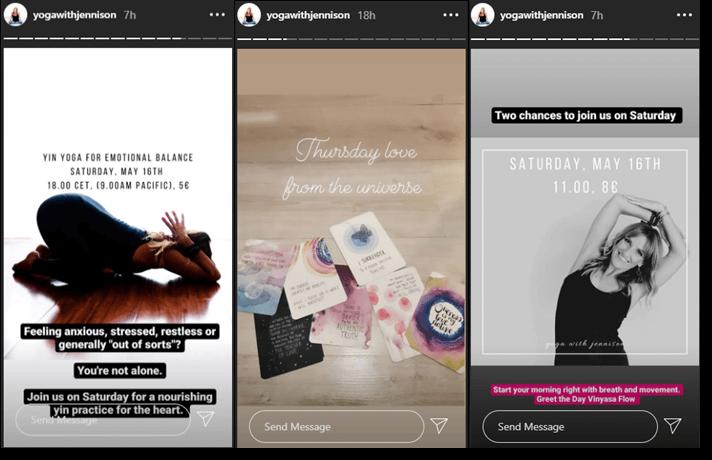 Instagram yoga giveaway
