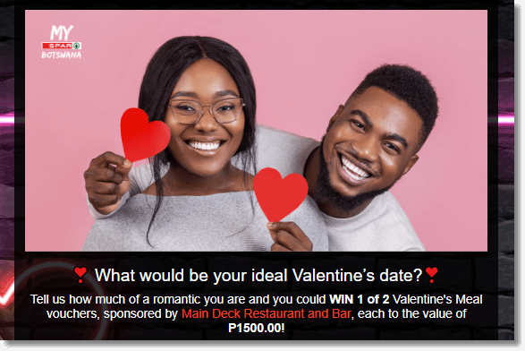 Valentine's Day personality quiz for data collection