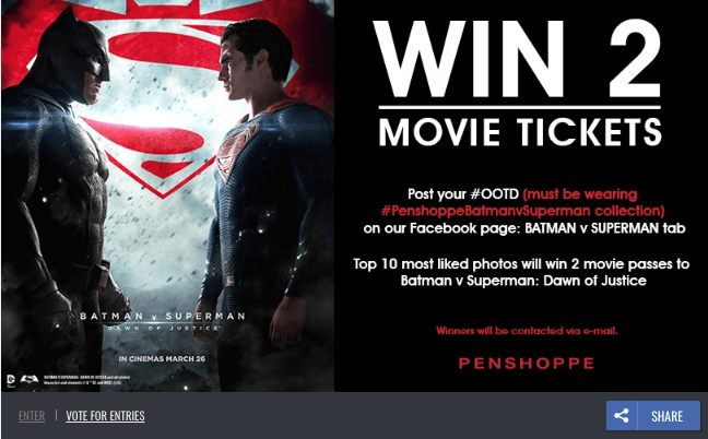 photo contest movie tickets promote a film online