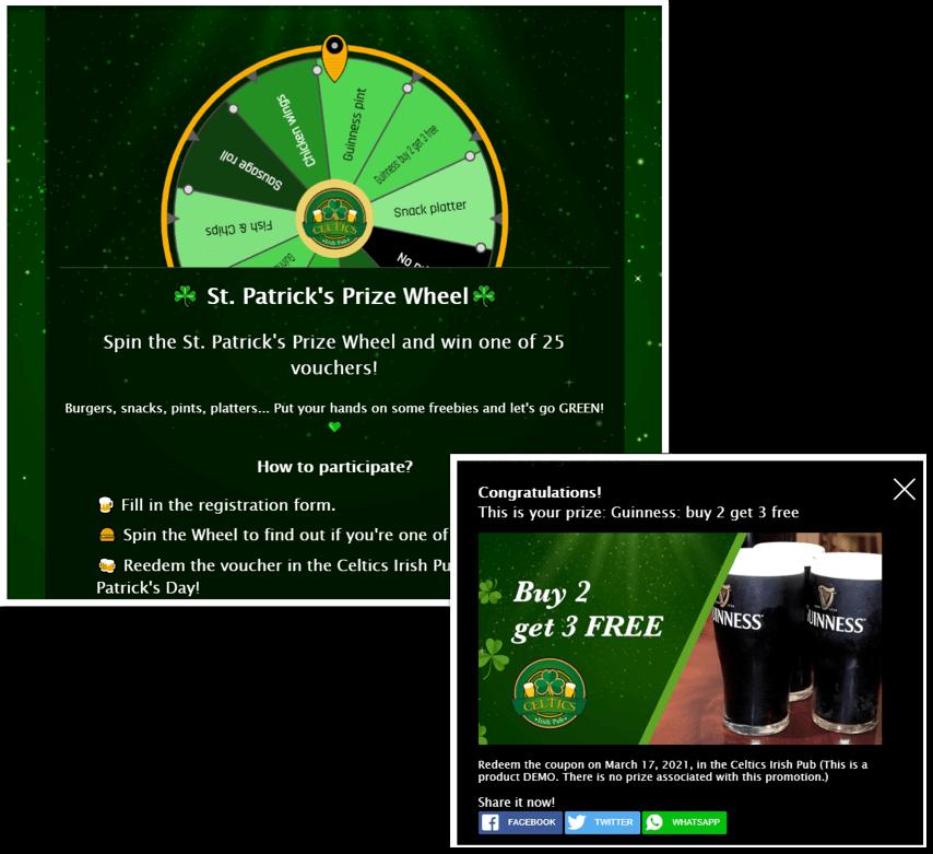 prize wheel prizes