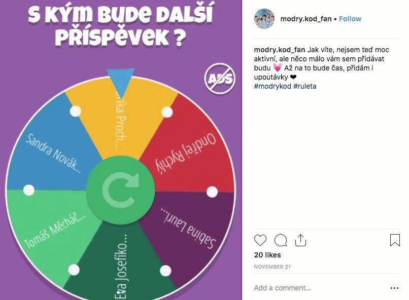 prize wheel instagram