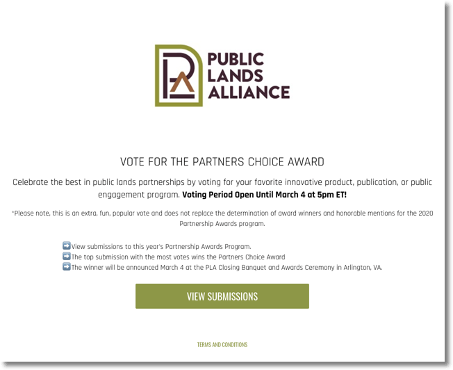 online awards public lands alliance