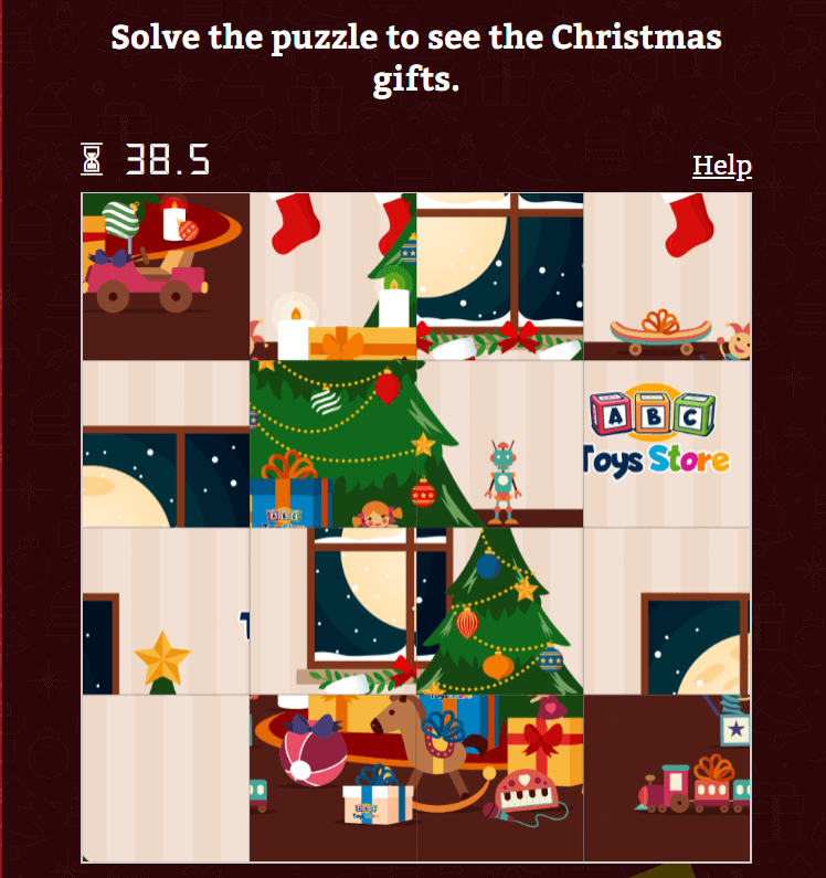 Puzzle game - gamification in marketing