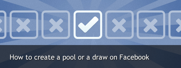 create a pool or draw on Facebook