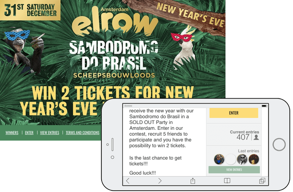 New Year's Eve promotions recruiters tickets