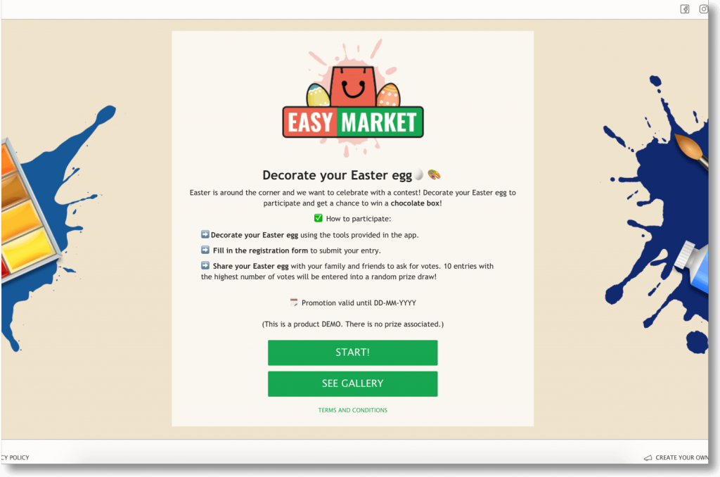 Easter promotion ideas, DEMO Scenes