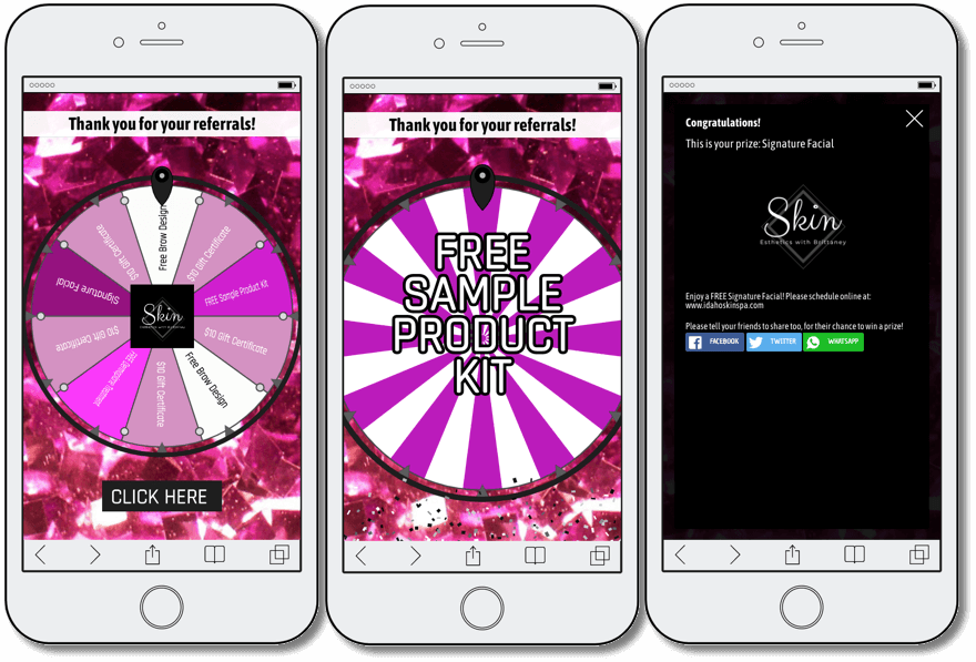Spin the Wheel promotion organized as part of customer retention strategies