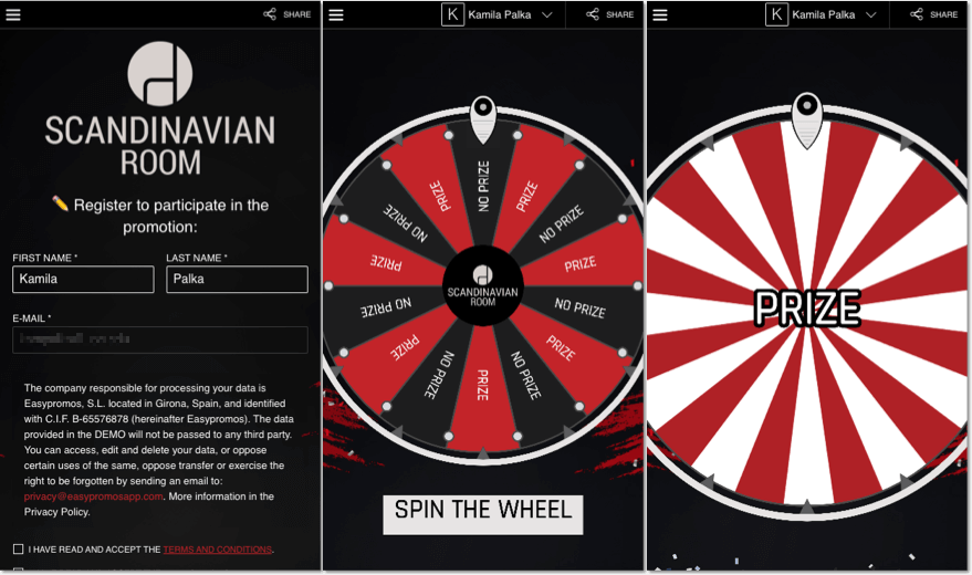 black friday marketing ideas: spin the wheel promotion