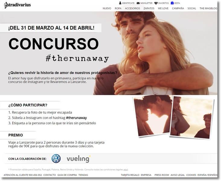 Stradivarius photo contest promote your fashion brand online