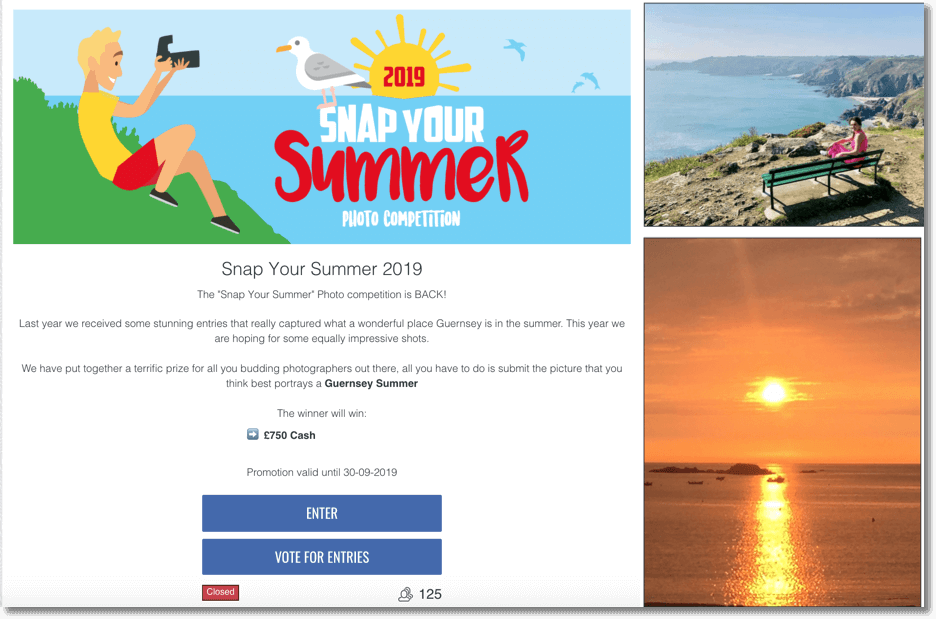 Summer contest idea: photo contest Guernsey Summer 2019