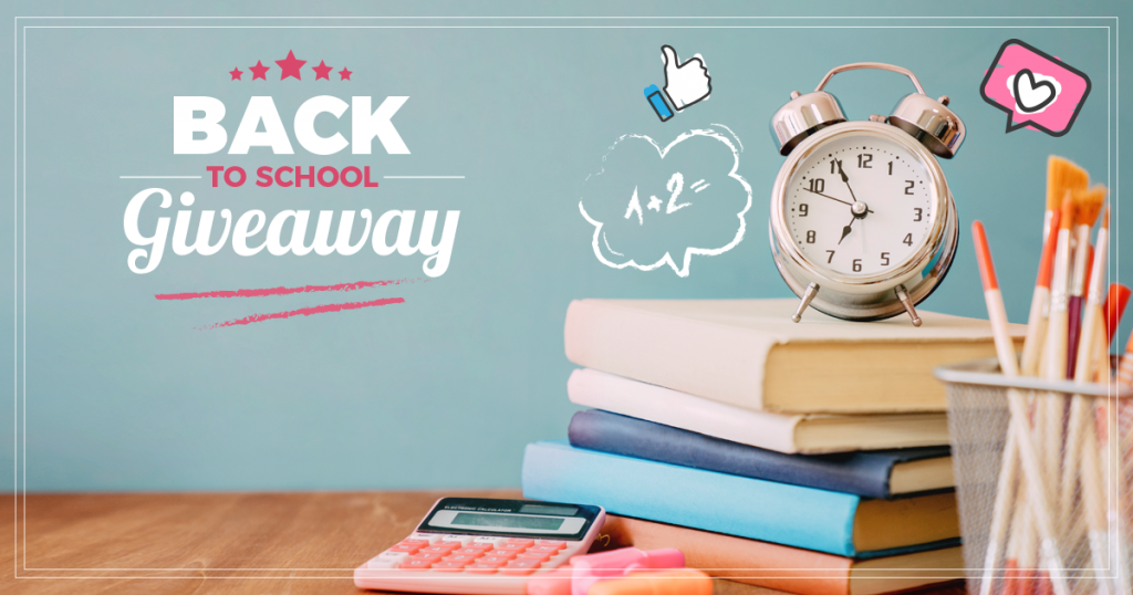 Back to School giveaway on Facebook
