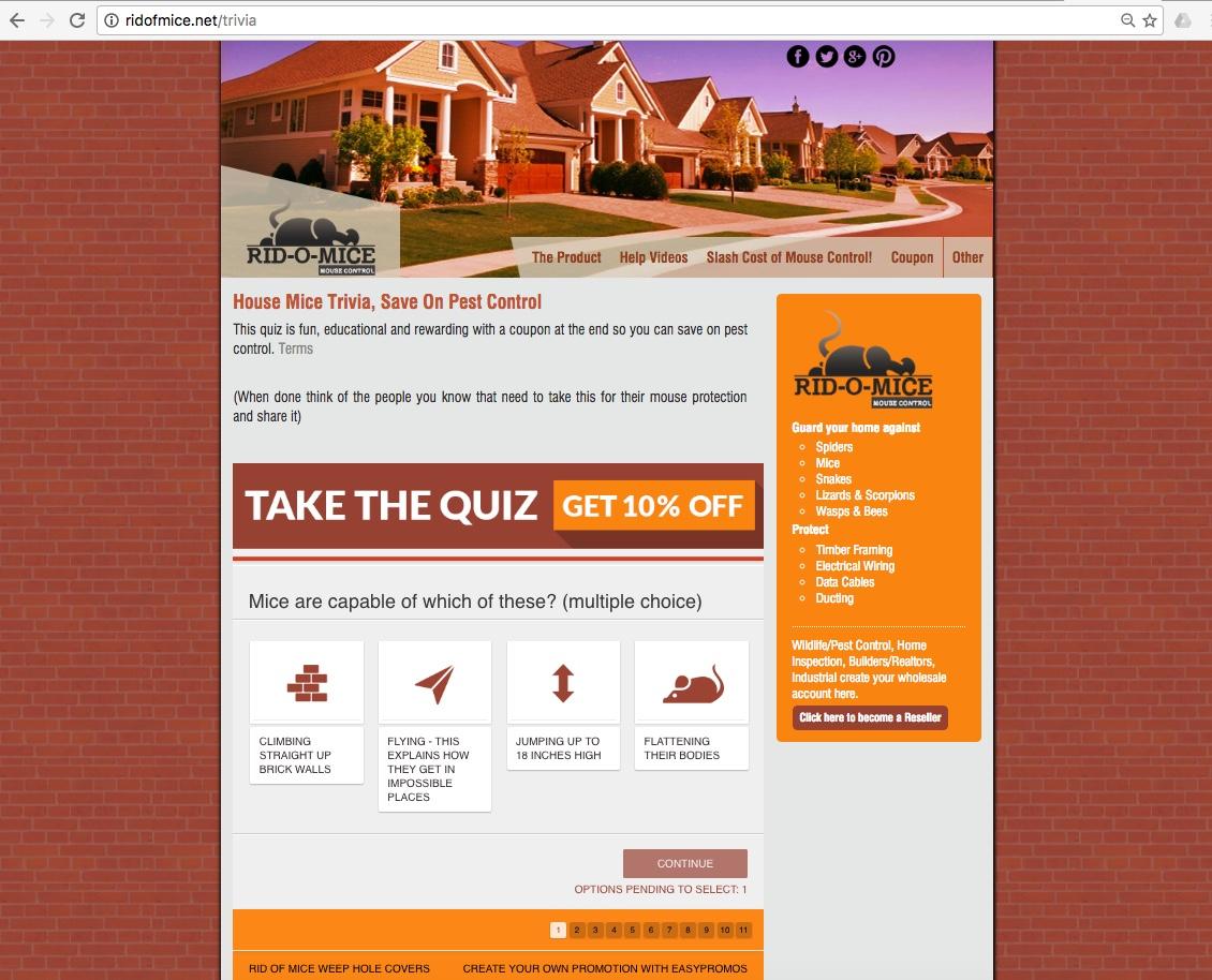 take the quiz ridomice