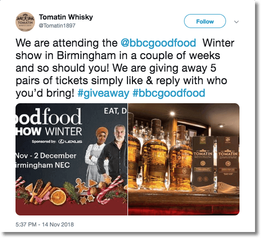 tomatin whisky winter twitter giveaway