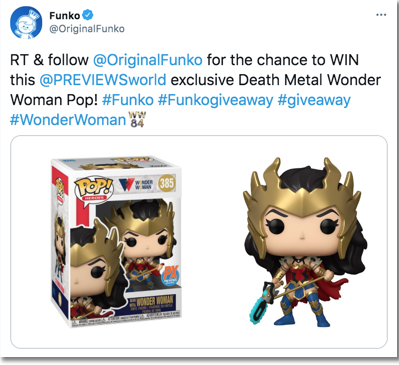 how to organize a twitter giveaway: a good example from Funko