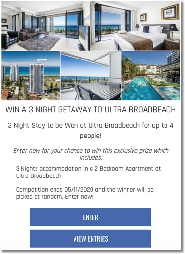 ultrabeach stay giveaway
