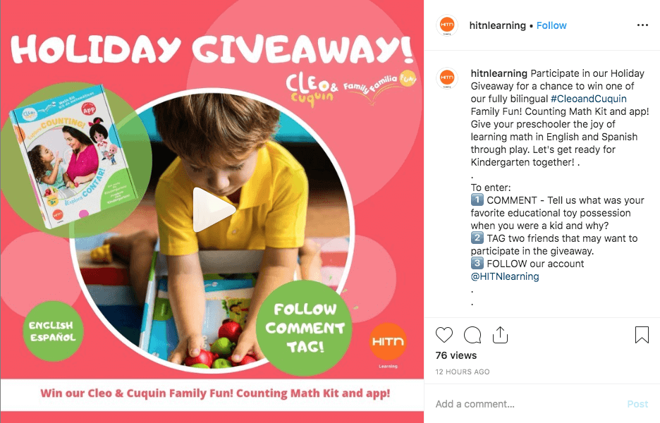Videos announcing social media giveaways