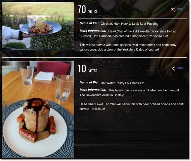 great british pie off online voting competition