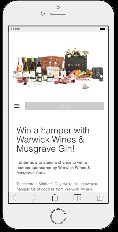 wine tourism marketing food giveaway