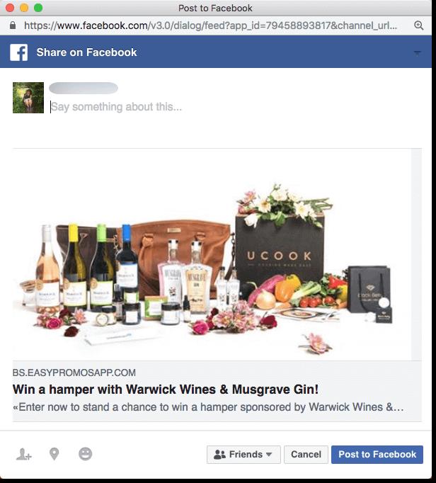 wine tourism marketing food giveaway facebook share