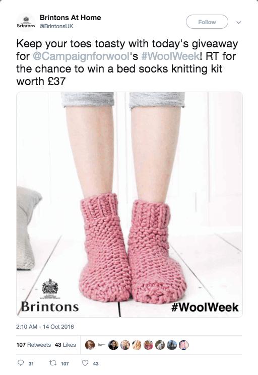 winter giveaway on Twitter retweet
