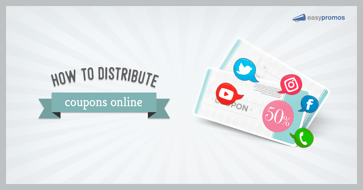 How to distribute coupons and promotional codes online fandeluxe Image collections