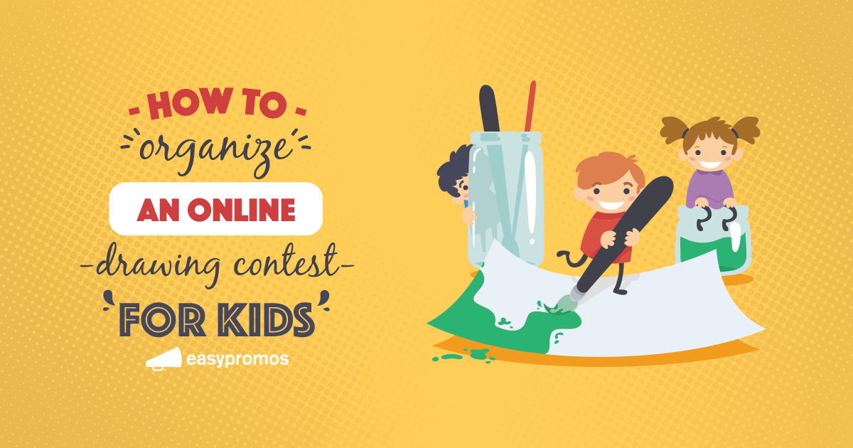 How to organize an online drawing contest for kids