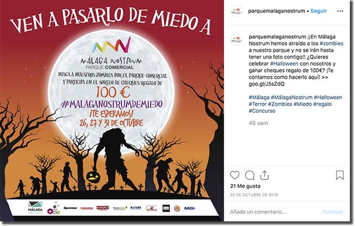 ejemplo de promoción en instagram con cheques regalo