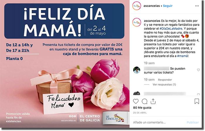 ejemplo de sorteo en instagram del día de la madre