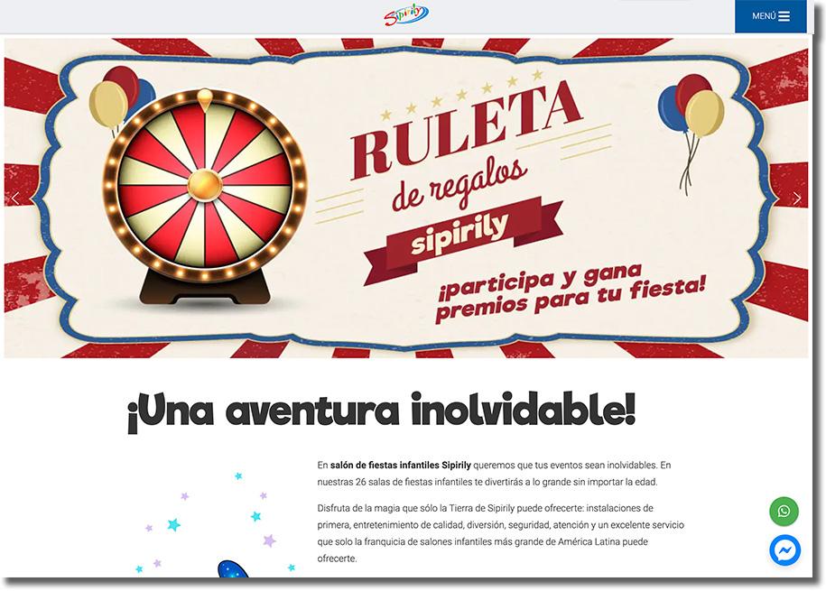 banner web con ruleta de premios personalizada