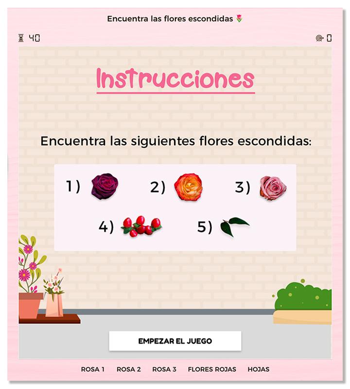 ejemplo de imagen de instrucciones de un juego objetos ocultos