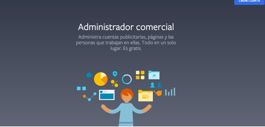 web administracion anuncios Facebook