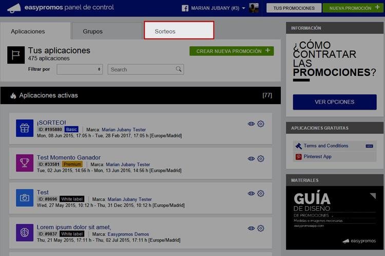 Aplicacion Sorteo en Facebook_1