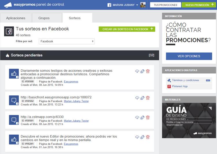 Aplicacion Sorteo en Facebook_2