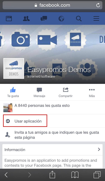 Boton Call to action en página de Facebook