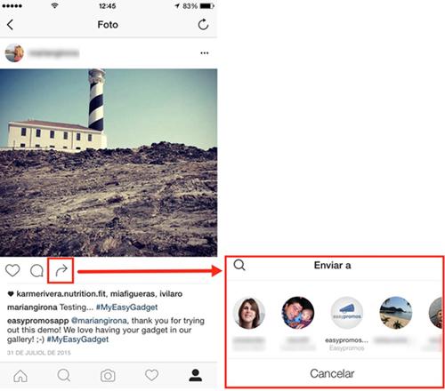 Ideas difundir concurso Instagram