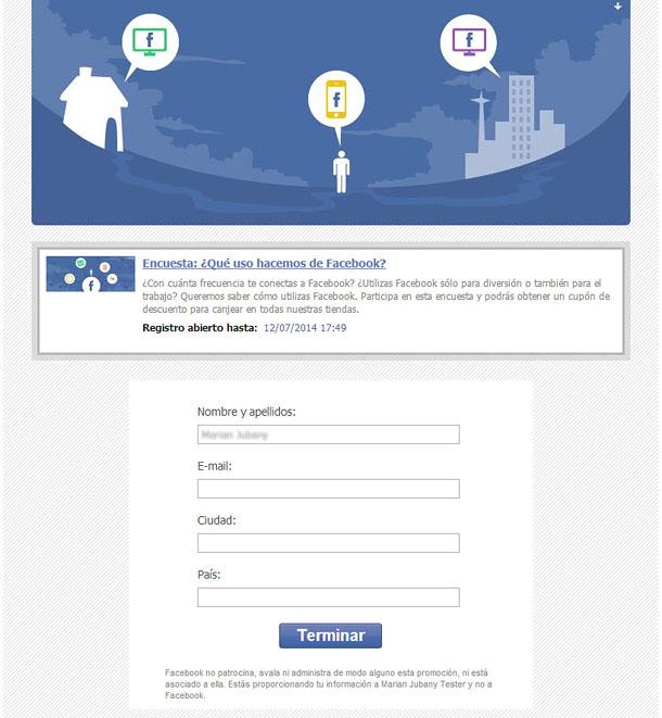 Completar formulario de registro
