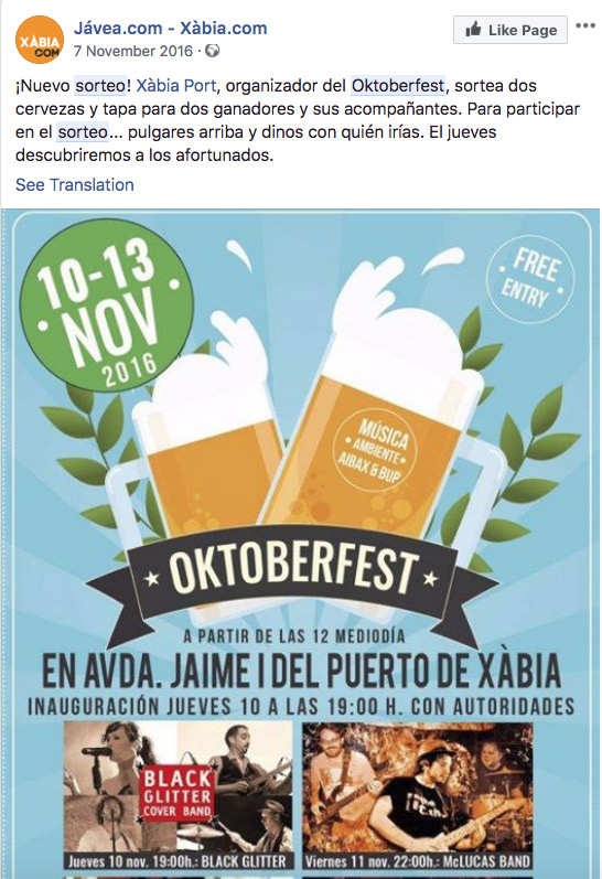 ejemplo oktoberfest facebook