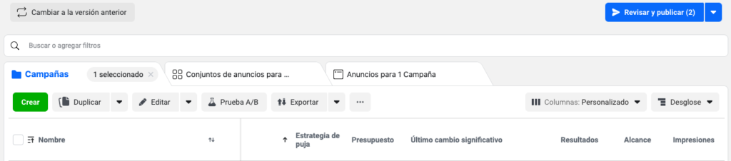 Facebook business administrador comercial
