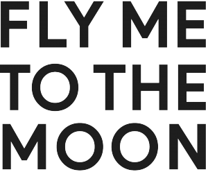 logo fly me to the moon