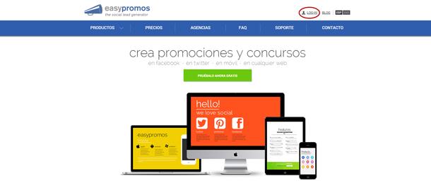Login web Easypromos
