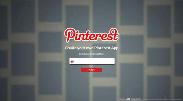 Pantalla portal Pinterest by Easypromos