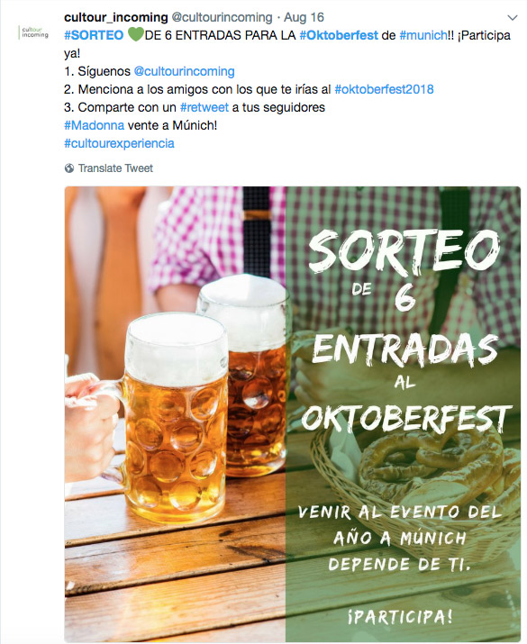 ejemplo Oktoberfest Twitter
