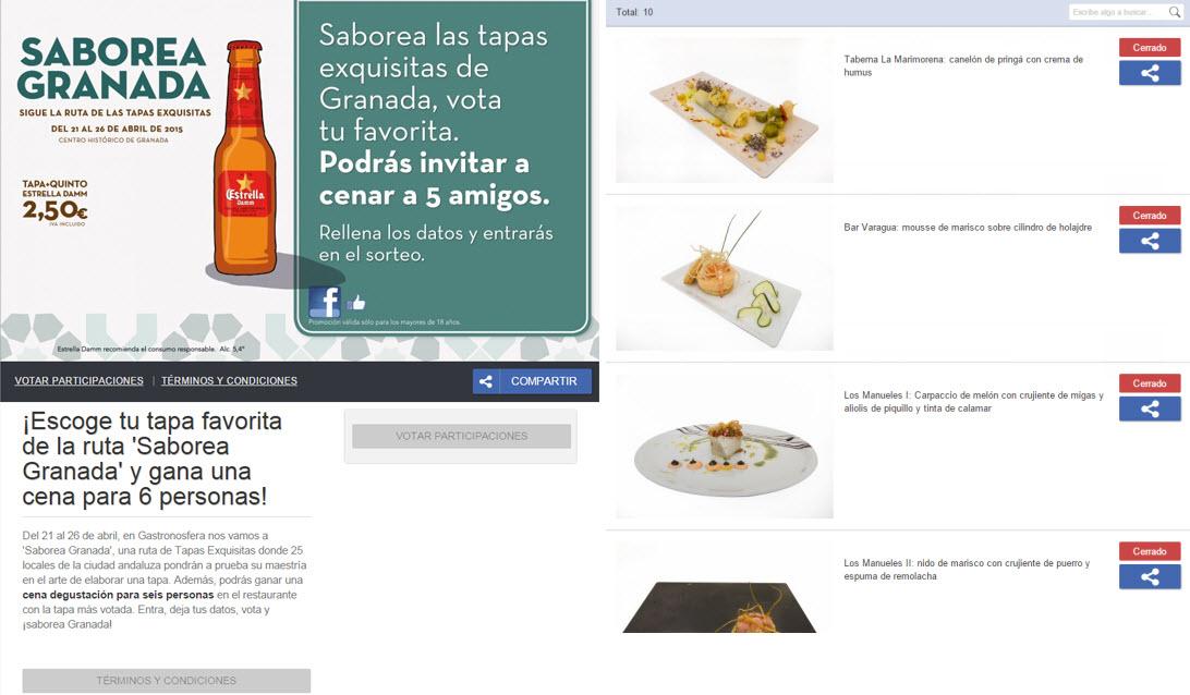 Vota tu favorito Saborea Granada