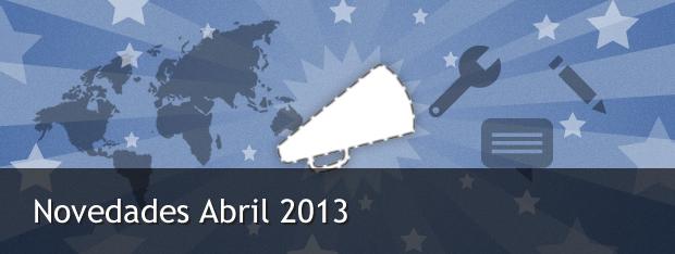 Novedades de Easypromos Abril 2013