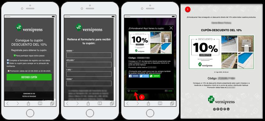 aplicacion descarga cupones personalizados