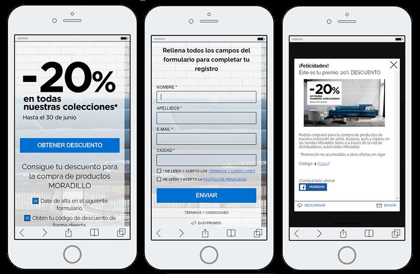 distribuir cupones a cambio datos usuarios