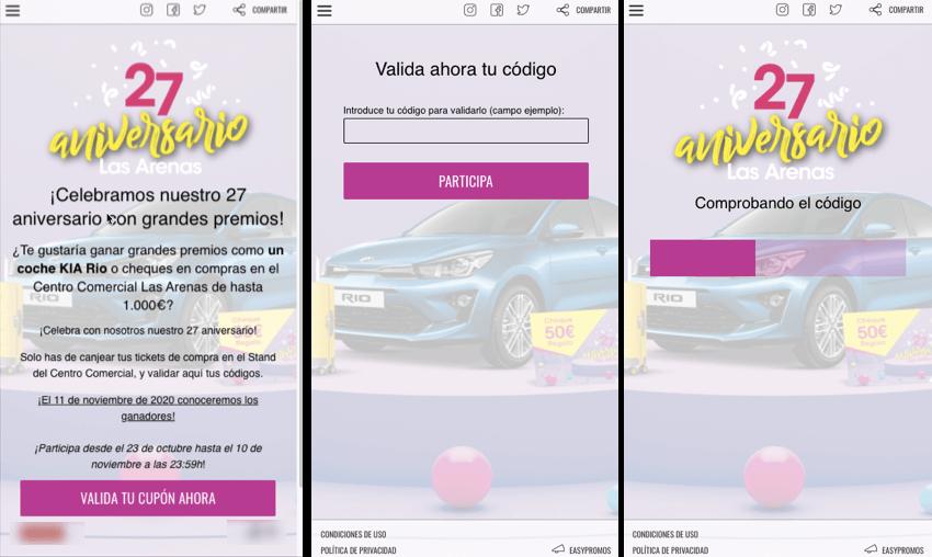 app validacion codigos para entrar sorteo